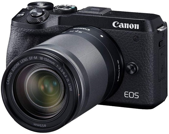 EOS M6 Mark II Mirrorless Digital Camera with EF-M 18-150mm IS STM Lens Kit - Black *FREE SHIPPING*