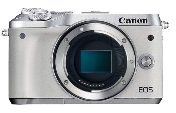 EOS M6 24.2 MegaPixel Mirrorless Digital Camera Body - White *FREE SHIPPING*