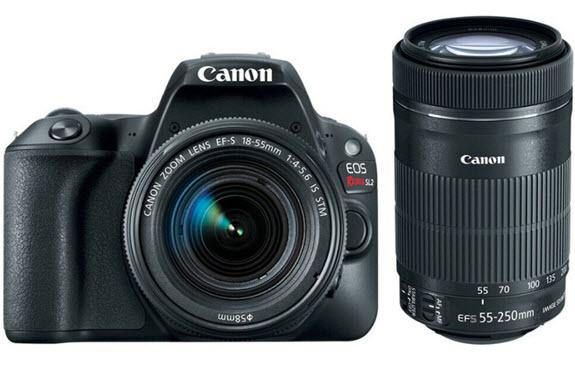 EOS Rebel SL2 24.2 Megapixel Compact DSLR Camera 18-55mm + 55-250mm Lenses Kit *FREE SHIPPING*