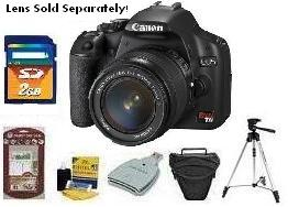 EOS Rebel T1i 15.1 Megapixel, 3.0 Inch LCD Screen With Live-View, Full HD Video Digital SLR Camera Body - Black - Deluxe Kit *FREE SHIPPING*