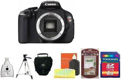 EOS Rebel T3i Digital SLR Camera Body - Black • 8GB Memory Card• Camera/Lens Cleaning Kit• LCD Screen Protectors• Memory Card Reader• Deluxe SLR Carrying Case• Davis and Sanford Traveler TriPod *FREE SHIPPING*