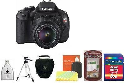 EOS Rebel T3i Digital SLR Camera Kit - Black + 8GB Memory Card+ Camera/Lens Cleaning Kit+ LCD Screen Protectors+ Memory Card Reader+ Deluxe SLR Carrying Case+ Davis and Sanford Traveler TriPod *FREE SHIPPING*