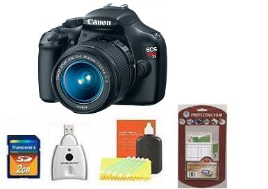 EOS Rebel T3 Digital SLR Camera Kit - Black • 2GB Memory Card• Camera/Lens Cleaning Kit• LCD Screen Protectors• Memory Card Reader *FREE SHIPPING*