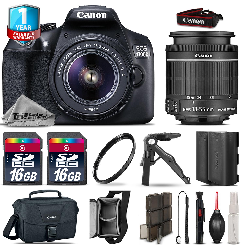 EOS Rebel 1300D / T6 Camera + 18-55mm IS + EXT BATT + 32GB + 1yr Warranty *FREE SHIPPING*