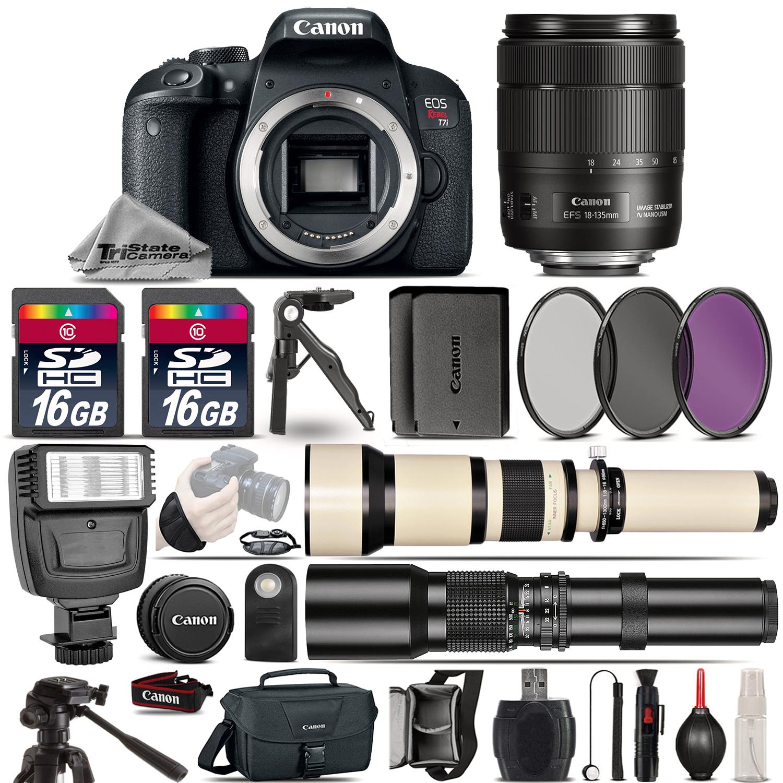 EOS Rebel T7i Camera + 18-135mm USM + 650-1300mm +500mm +EXT BAT -32GB Kit *FREE SHIPPING*