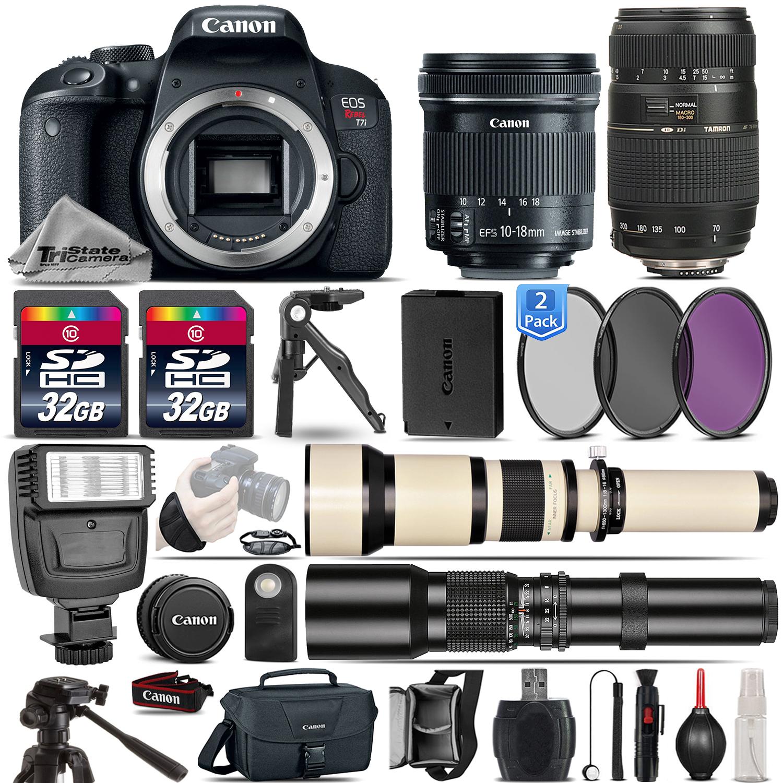 EOS Rebel T7i DSLR Camera + 10-18mm IS STM + 70-300mm Lens - 64GB Bundle *FREE SHIPPING*