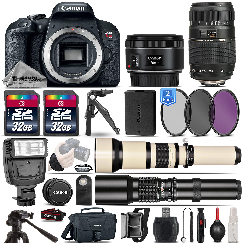 EOS Rebel T7i SLR Camera 800D + 50mm 1.8 + 70-300mm Lens - 64GB Kit Bundle *FREE SHIPPING*