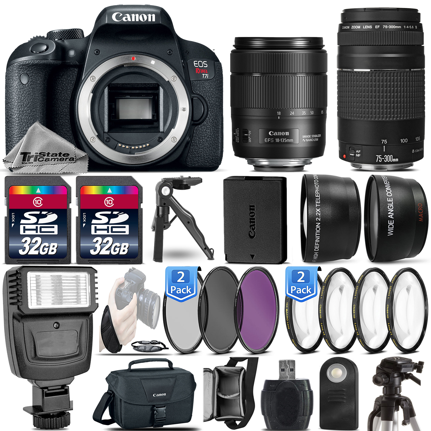 Product Search Tri State Camera Video And Computer Canon Eos 760d Kit Ef S 18 135mm F 35 56 Is Stm Wifi
