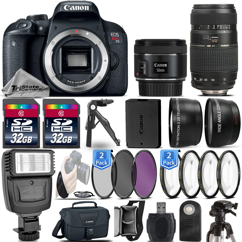 EOS Rebel T7i / 800D DSLR Camera + 50mm 1.8  STM + 70-300mm - 64GB Kit *FREE SHIPPING*