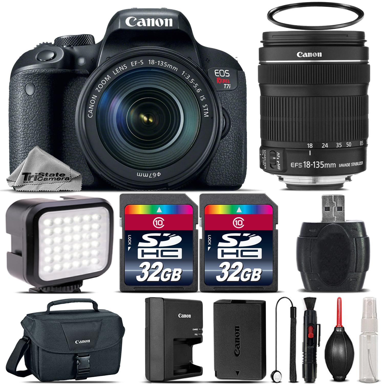 EOS Rebel T7i DSLR Camera  + 18-135mm STM + LED  + Canon Case - 64GB Kit *FREE SHIPPING*