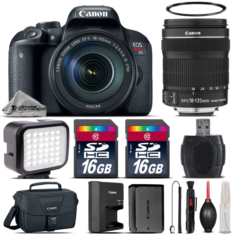 EOS Rebel T7i DSLR Camera  + 18-135mm STM + LED + Canon Case - 32G Kit *FREE SHIPPING*