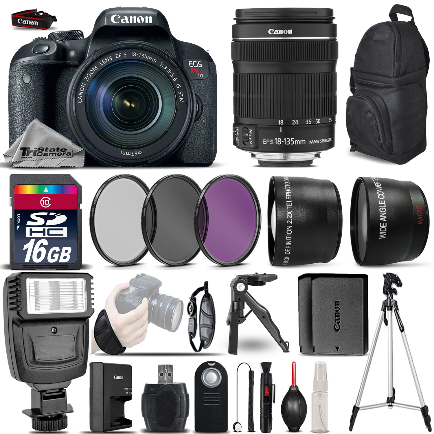 EOS Rebel T7i DSLR Camera 1894C003 + 18-135mm IS - Ultimate Saving Bundle *FREE SHIPPING*
