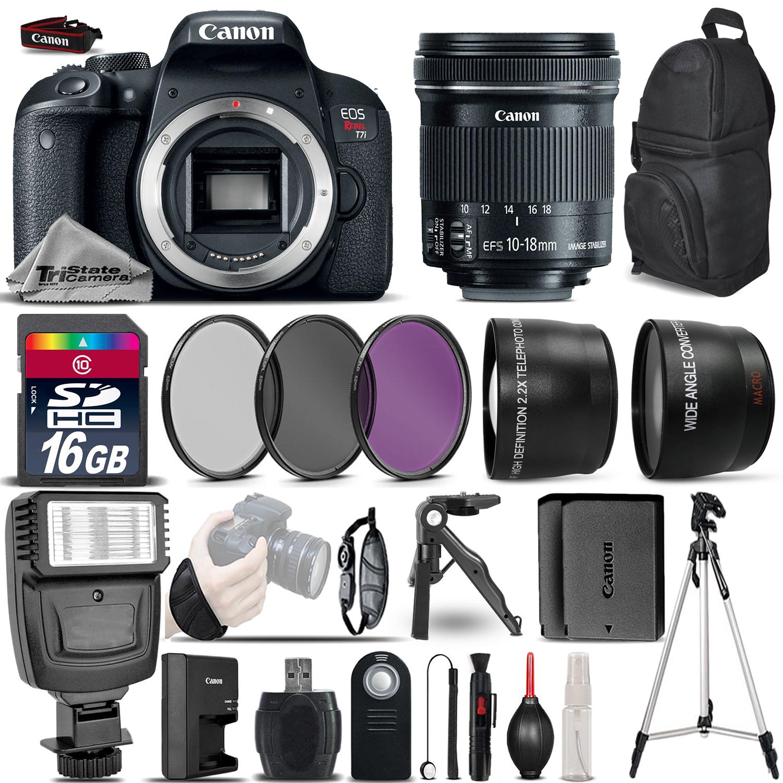 EOS Rebel T7i DSLR Camera 1894C001 + 10-18mm STM - Ultimate Saving Bundle *FREE SHIPPING*