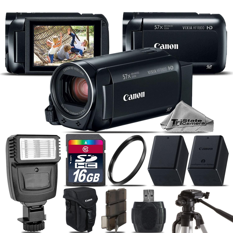 VIXIA HF R 800 57x Zoom 3.28MP HD Camcorder + Flash + EXT BATT - 16GB Kit *FREE SHIPPING*