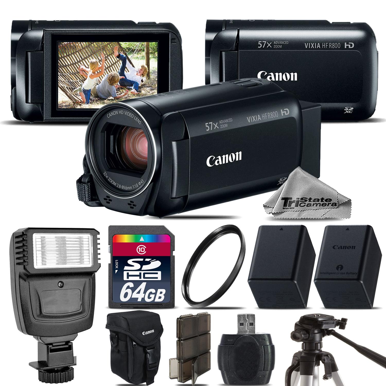 VIXIA HF R 800 57x Zoom 3.28MP HD Camcorder + Flash + EXT BATT - 64GB Kit *FREE SHIPPING*