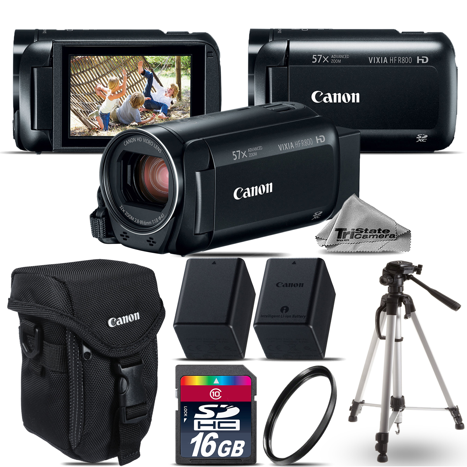 VIXIA HF R 800 57x Camcorder + EXT BATT + 16GB - Essential Bundle Kit *FREE SHIPPING*