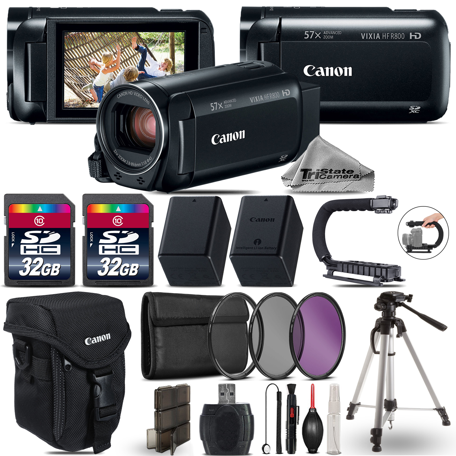 VIXIA HF R 800 HFR 800 Camcorder Black + 64GB - Essential Ultimate Bundle *FREE SHIPPING*