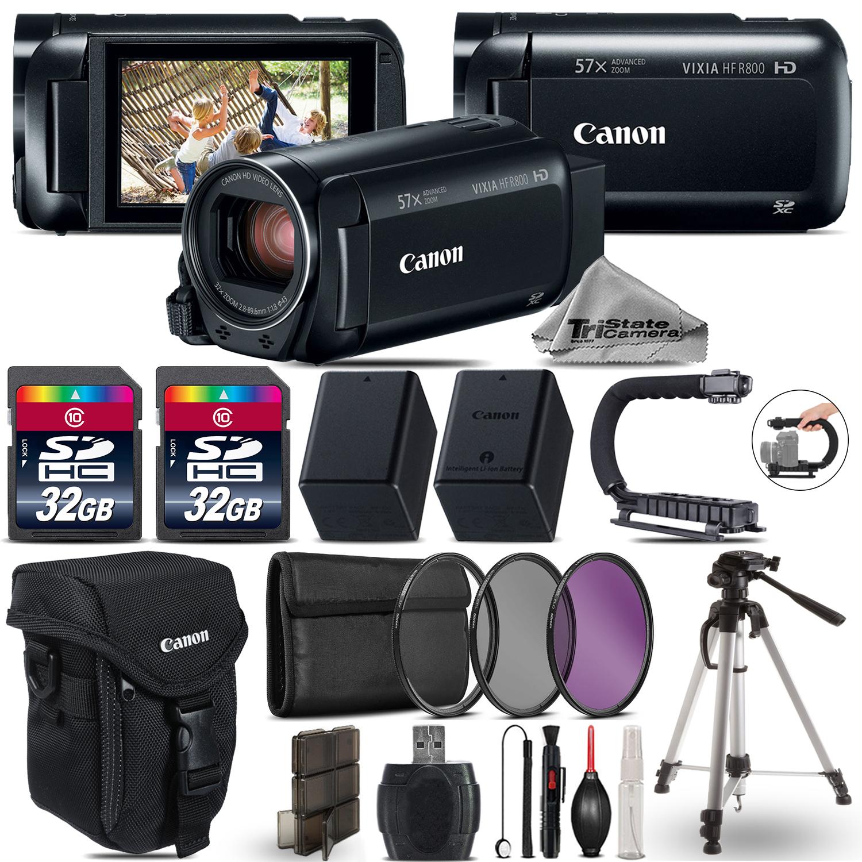 VIXIA HF R 800 HFR 800 Camcorder Black + 64GB - Essential Ultimate Bundle *FREE SHIPPING*