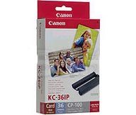 Kc-36ip Color Ink Paper Set (Credit Card Size Full Sheet) *FREE SHIPPING*