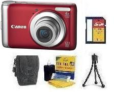 PowerShot A3100  IS Digital Camera - Red • 1GB SD Memory Card • Lens Cleaning Kit• Table-Top Tripod • Deluxe Case *FREE SHIPPING*