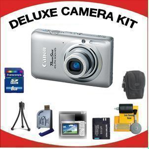 PowerShot Elph 100 Digital Camera - Silver with Deluxe Accessory Kit (8GB Mem Card, Card Reader, Carrying Case, Spare Battery & More) *FREE SHIPPING*