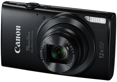 PowerShot Elph 170 IS 20.0 Megapixel, 12x Optical Zoom, 2.7 In. LCD, HD Video Digital Camera - Black *FREE SHIPPING*