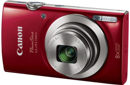 PowerShot Elph 180 20.0 Megapixel, 8x Optical Zoom, 2.7 In. LCD, HD Video Digital Camera - Red *FREE SHIPPING*