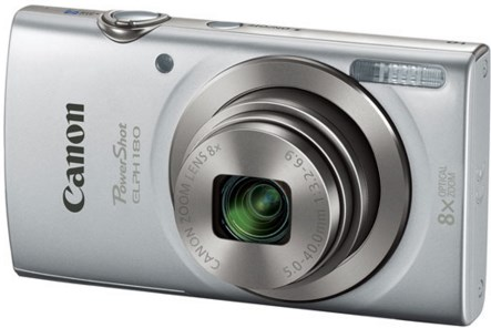 PowerShot Elph 180 20.0 Megapixel, 8x Optical Zoom, 2.7 In. LCD, HD Video Digital Camera - Silver *FREE SHIPPING*