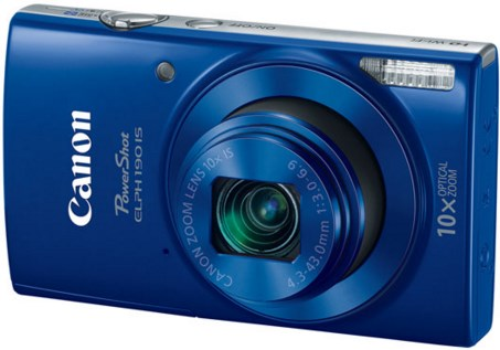 PowerShot Elph 190 IS 20.0 Megapixel, 10x Optical Zoom, 2.7 In. LCD, HD Video Digital Camera - Blue *FREE SHIPPING*