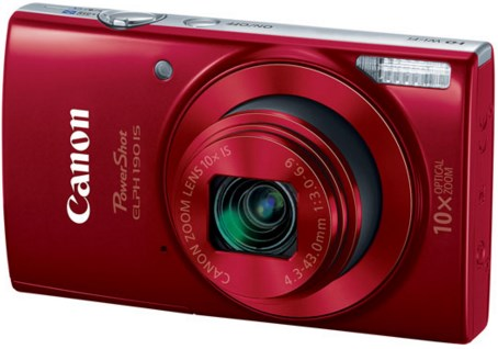 PowerShot Elph 190 IS 20.0 Megapixel, 10x Optical Zoom, 2.7 In. LCD, HD Video Digital Camera - Red *FREE SHIPPING*