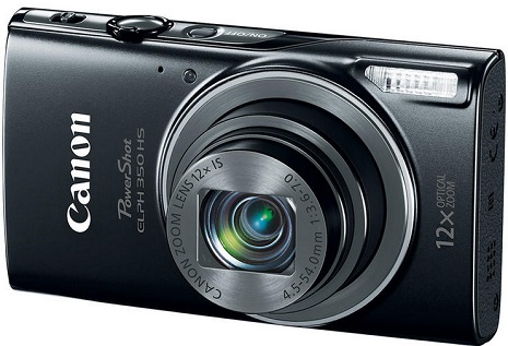 PowerShot Elph 350 HS 20.2 MegaPixel, 12x Optical Zoom, 3.0 In. LCD, Full HD Video, Wi-Fi Digital Camera - Black *FREE SHIPPING*