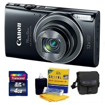 PowerShot Elph 350 Digital Camera - Black - 4GB Mem Card, Carrying Case & Cleaning Kit - Value Kit *FREE SHIPPING*