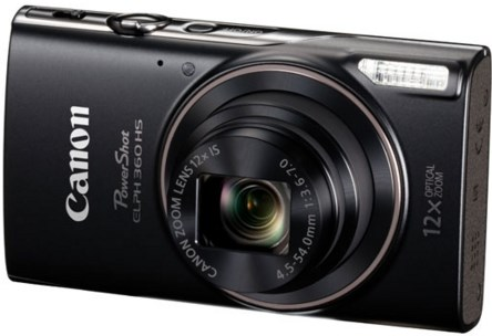 PowerShot Elph 360 20.0 Megapixel, 12x Optical Zoom, 3.0 In. LCD, Full HD Video Digital Camera - Black *FREE SHIPPING*
