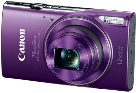 PowerShot Elph 360 20.0 Megapixel, 12x Optical Zoom, 3.0 In. LCD, Full HD Video Digital Camera - Purple *FREE SHIPPING*