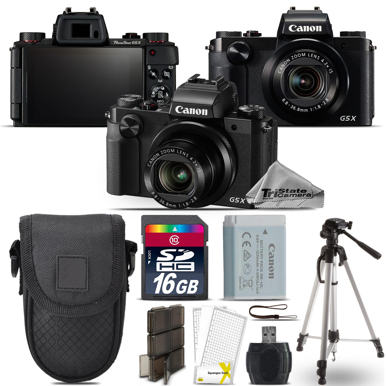 Tri State Camera Video And Computer Accessories Canon Powershot G5x Kamera Pocket G5 X Digital Digic 6 Wifi Nfc 202mp 16gb Essential Kit Free Shipping