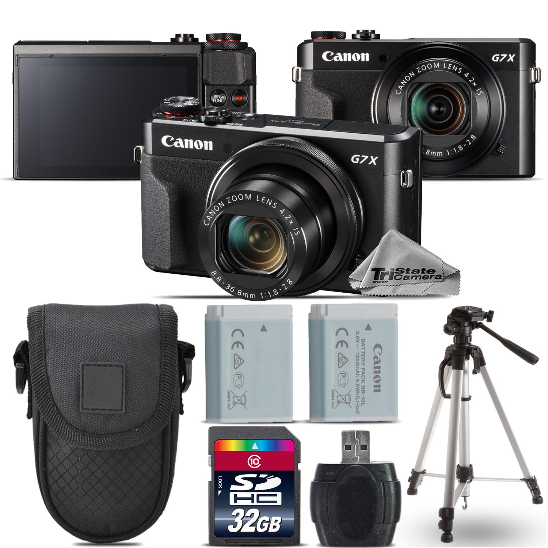 PowerShot G7 X Mark II Digital DIGIC 7  WiFi Camera + Tripod - 32GB Kit *FREE SHIPPING*