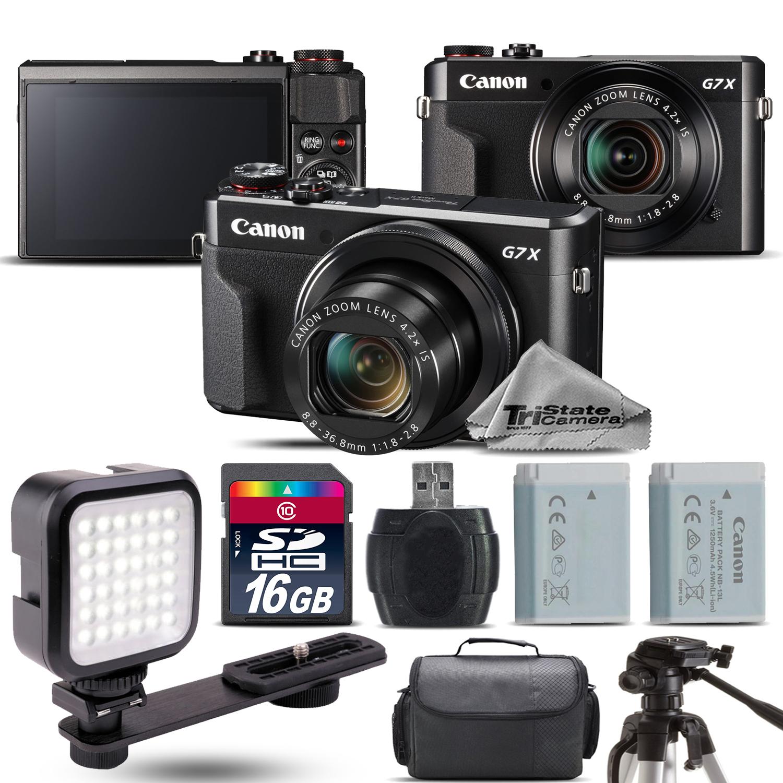 PowerShot G7 X Mark II Digital 20.1MP DIGIC 7 Camera + EXT BAT + LED - 16GB Kit *FREE SHIPPING*