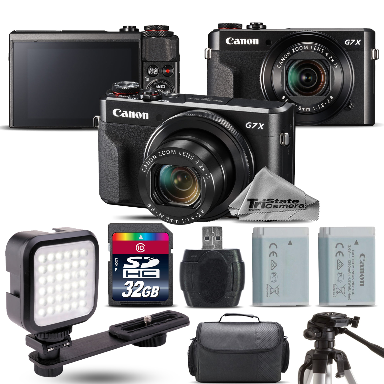 PowerShot G7 X Mark II Digital 20.1MP DIGIC 7 Camera + EXT BAT + LED - 32GB Kit *FREE SHIPPING*