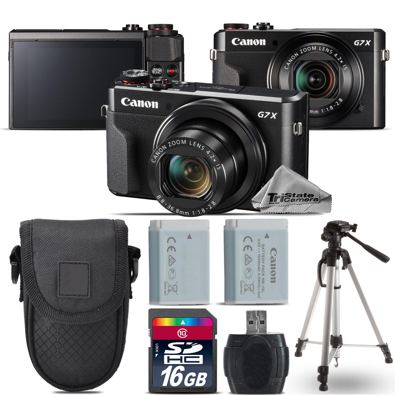 PowerShot G7 X Mark II Digital DIGIC 7  WiFi NFC Camera + Tripod + Case -16GB Kit *FREE SHIPPING*