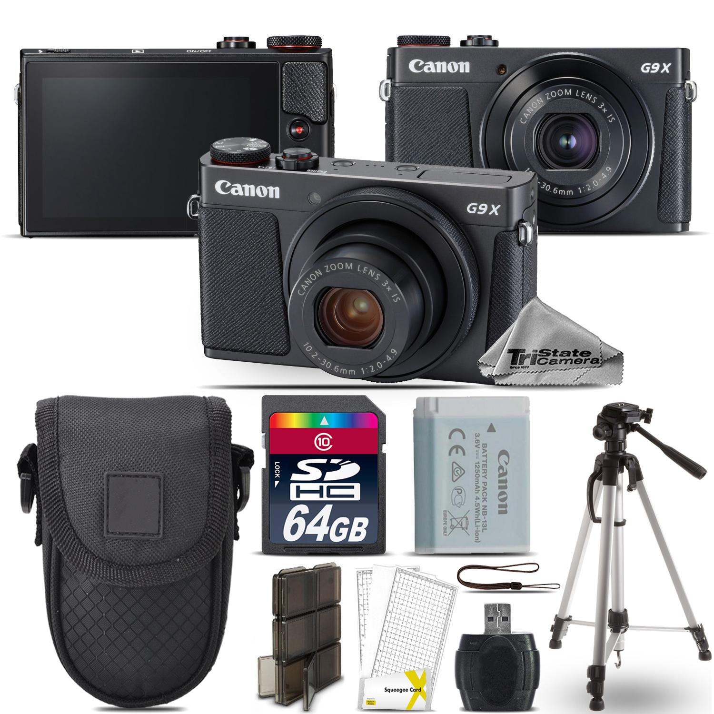 "PowerShot G9 X Mark II Digital DIGIC 7 WiFi Camera + 50"" Tripod - 64GB Kit *FREE SHIPPING*"