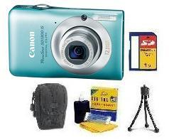 PowerShot SD-1300 Digital Camera - Green • 1GB SD Memory Card • Lens Cleaning Kit• Table-Top Tripod • Deluxe Case *FREE SHIPPING*