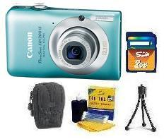 PowerShot SD-1300 Digital Camera - Green • 2GB SD Memory Card • Lens Cleaning Kit• Table-Top Tripod • Deluxe Case *FREE SHIPPING*