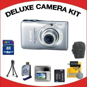 PowerShot SD-1300 Digital Elph Camera - Silver with Deluxe Accessory Kit (8GB Mem Card, Card Reader, Carrying Case, Spare Battery & More) *FREE SHIPPING*