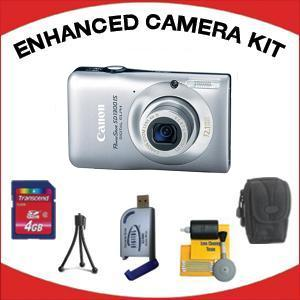 PowerShot SD-1300 Digital Elph Camera - Silver with Enhanced Accessory Kit (4GB Mem Card, Card Reader, Carrying Case, Tripod & Cleaning Kit) *FREE SHIPPING*