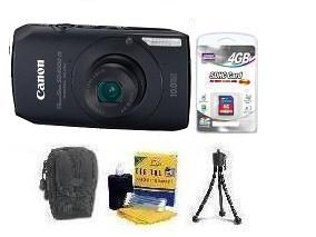 PowerShot SD-4000 Digital Camera - Black • 4GB SD Memory Card • Lens Cleaning Kit• Table-Top Tripod • Deluxe Case *FREE SHIPPING*