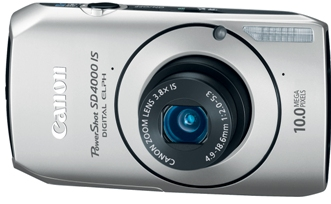PowerShot SD-4000  IS 10.0 Megapixel, 3.8x Optical Image Stabilized Fast F/2.0 Zoom Lens, 3.0 Inch LCD Screen, HD Video With Hdmi Output Digital Elph Camera - Silver *FREE SHIPPING*