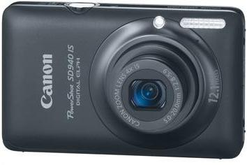 PowerShot SD-940  IS 12.1 Megapixel,  4x  IS Image Stabilized Wide-Angle Optical Zoom, 2.7 Inch LCD Screen Digital Elph Camera - Black *FREE SHIPPING*