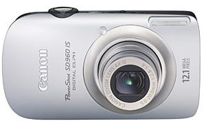 PowerShot SD-960 12.1 Megapixel, 4x Wide Angle Optical Image Stabilized Zoom, 2.8 Inch LCD Screen Digital Elph Camera - Silver *FREE SHIPPING*