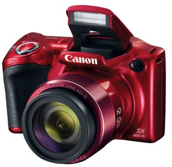 PowerShot SX420 IS 20 Megapixel, 42x IS 24mm W/A Optical Zoom, HD Video, 3.0 Inch LCD Screen Digital Camera - Red *FREE SHIPPING*