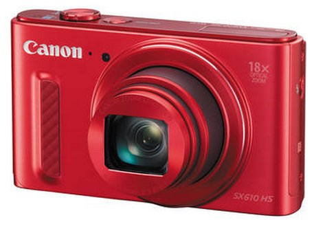 PowerShot SX 610 HS 20.2 Megapixel, 18x IS Zoom Lens, 3.0 In. LCD Screen, Full HD Video Digital Camera - Red - Factory Refurbished *FREE SHIPPING*